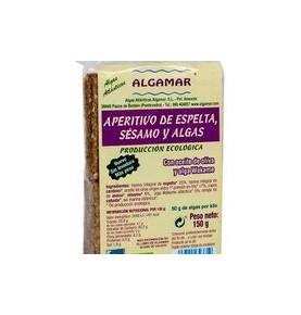 Aperitivo de espelta, sésamo y algas Bio, Algamar (150g)  de Algamar