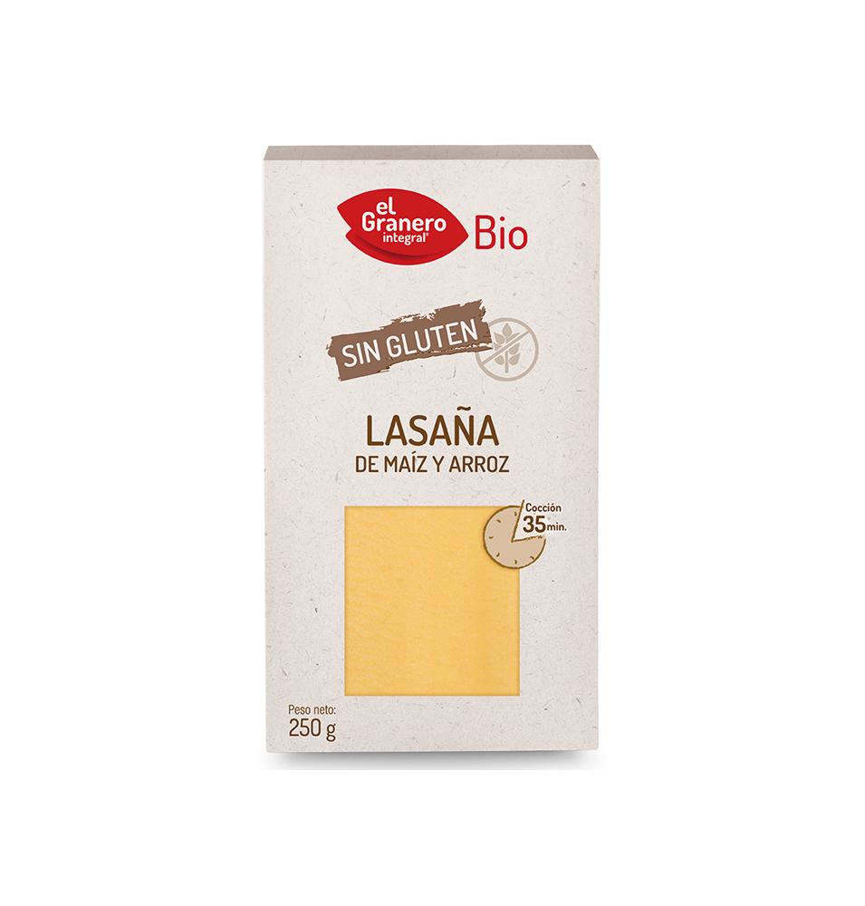 Laminas lasaña sin gluten Bio, El Granero (250g)  de El Granero Integral