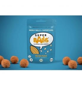 Energy Balls Cacao-Cacahuetes bio-Raw Sin gluten, Superball (48 g)  de SUPERBALL