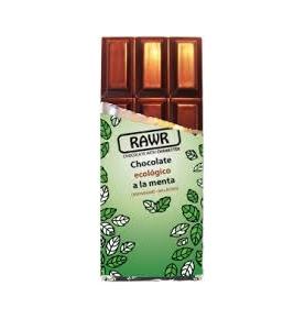 Chocolate ecológico crudivegano a la menta, Rawr (60g)  de RAWR
