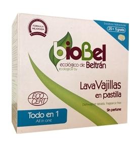 Pastilla lavavajillas Eco, Biobel (30 unidades) SanoBio