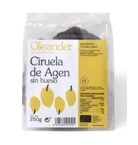 Ciruelas de Agen sin hueso Bio, Oleander (250g) SanoBio