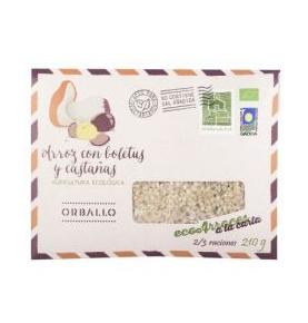 Arroz con boletus y castañas Bio, Orballo (210g) SanoBio
