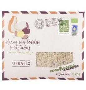 Arroz con boletus y castañas Bio, Orballo (210g)  de Orballo