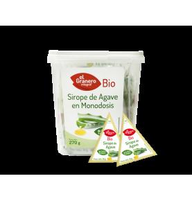 Bote monodosis Sirope de Agave Bio,El Granero(9g , 270g)  de El Granero Integral