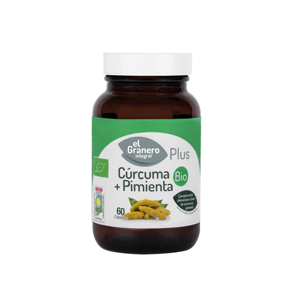Cúrcuma + Pimienta Bio, El Granero (60 CAP ,440 mg)SanoBio