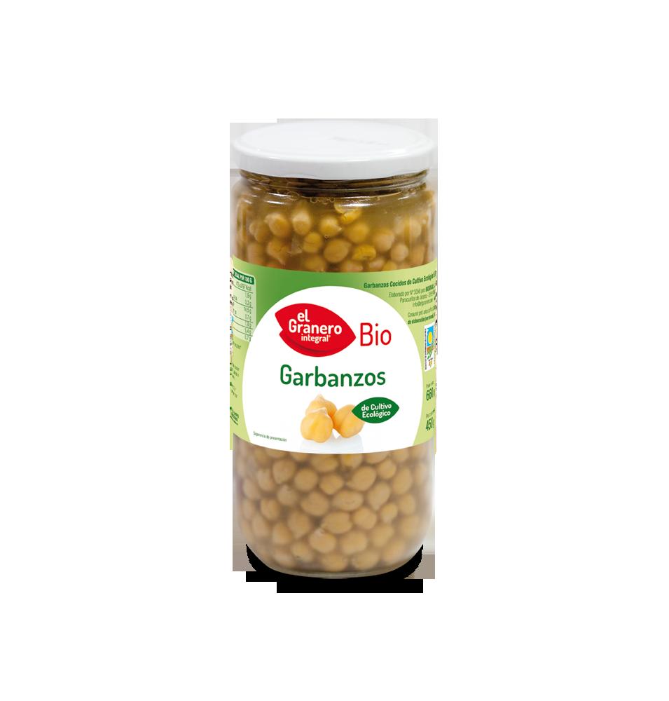 Garbanzos cocidos Bio, El Granero (660g)SanoBio