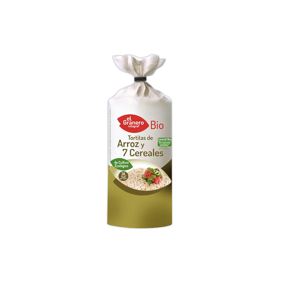 Tortitas de arroz y 7 cereales Bio, El Granero (100g)  de El Granero Integral