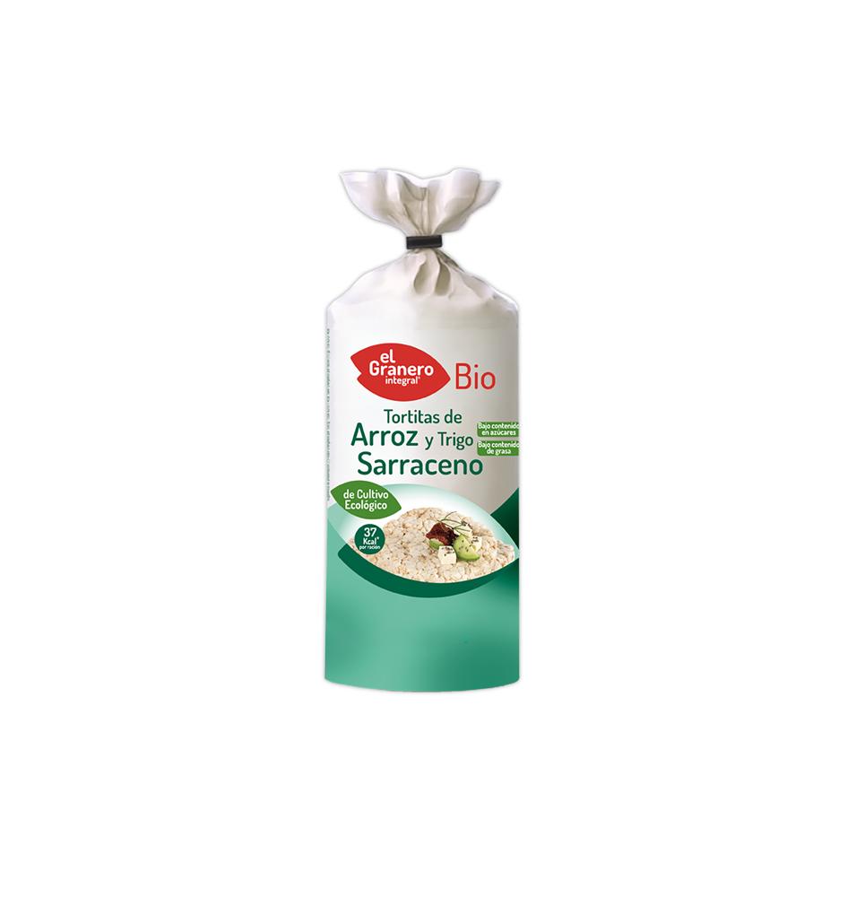 Tortitas de arroz y trigo sarraceno Bio, El granero (115g)  de El Granero Integral