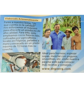 Harina de coco Bio, Dr Goerg (600g)SanoBio