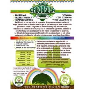 Alga Chlorella Bio, Mundo Arcoiris (125g)  de SuperAlimentos Mundo Arcoiris
