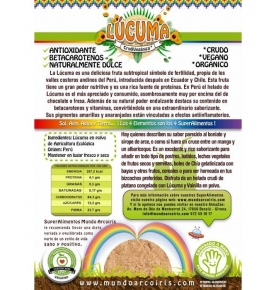 Lúcuma polvo Bio, Mundo Arcoiris (250g)  de SuperAlimentos Mundo Arcoiris