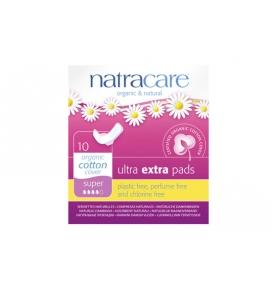 Compresas Ultra Extra Super Alas Bio, Natracare (10 Uni)  de NATRACARE
