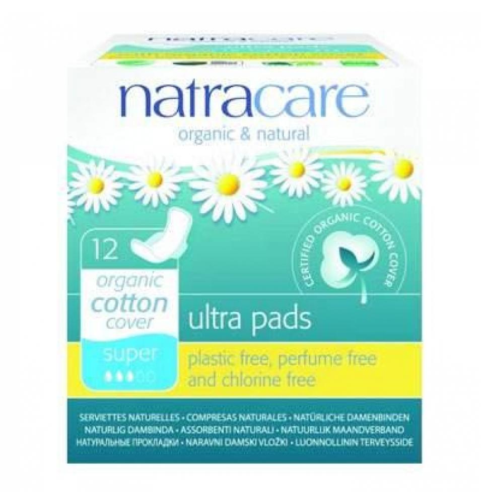 Compresas ultra Super Alas Bio, Natracare (12 Uni)  de NATRACARE
