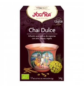 Infusión Chai Dulce Bio, Yogi Tea (17bolsas)SanoBio