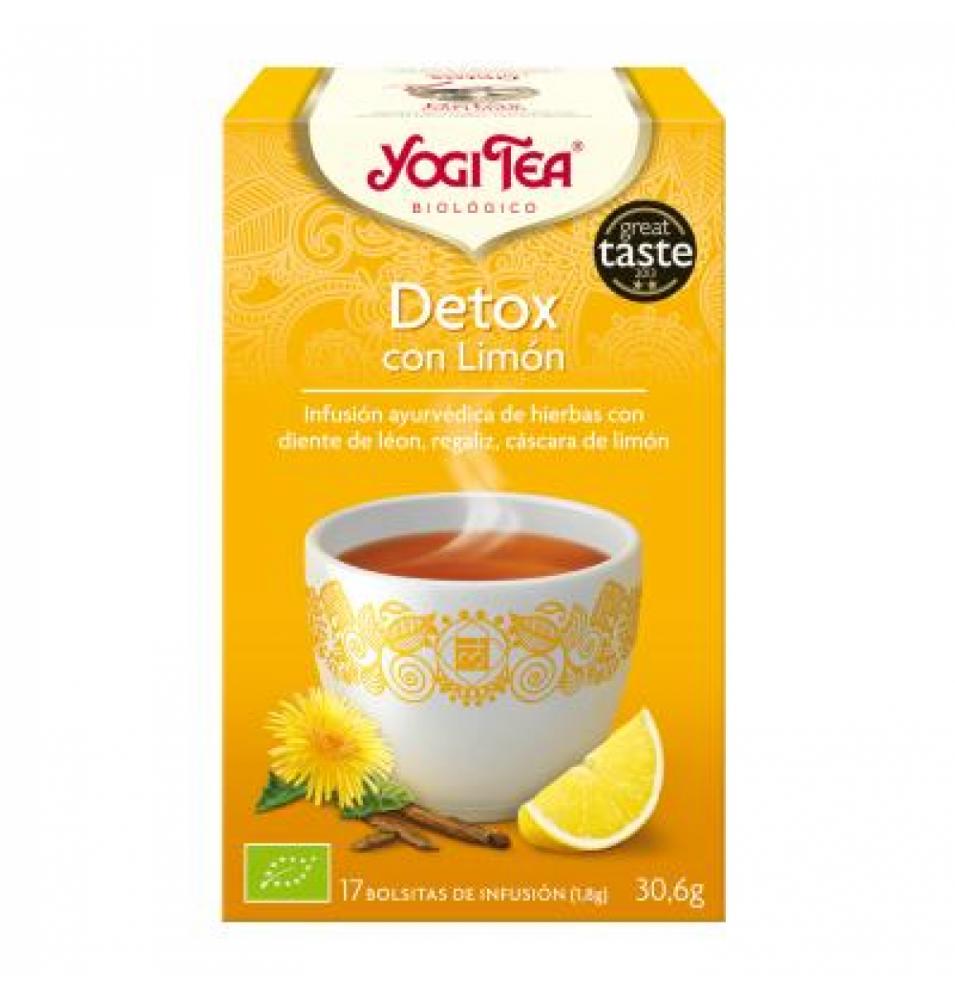 Infusión Detox con limón Bio, Yogi Tea (17 Bolsitas) SanoBio