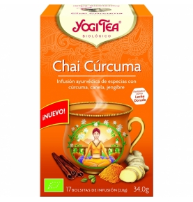 Infusión Chai Cúrcuma Bio, Yogi Tea (17x2g)SanoBio