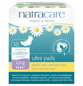 Compresa Ultra Largas Alas Bio, Natracare (10 Uni)  de NATRACARE