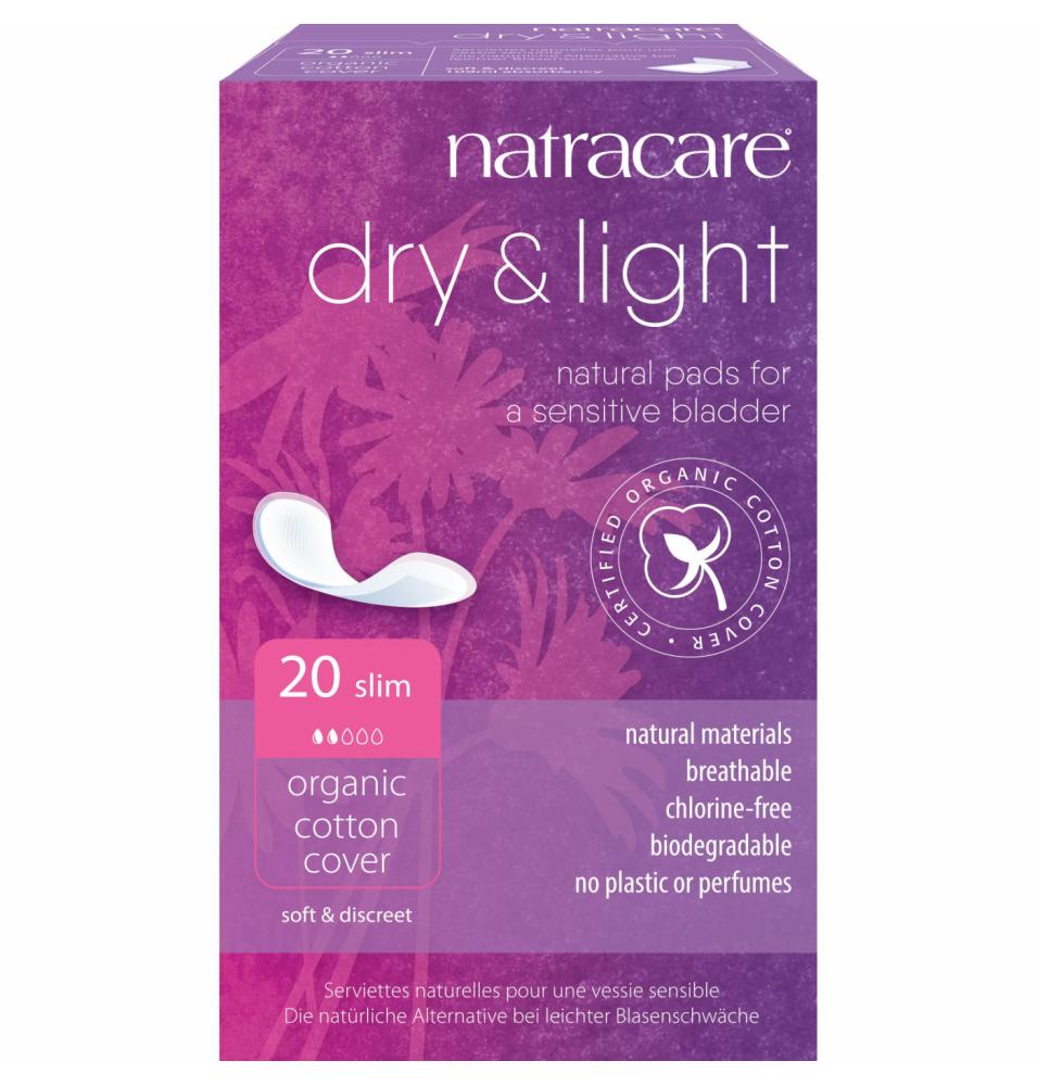 Compresa Incontinencia Dry&Light Slim Bio, Natracare (20 Uni)  de NATRACARE
