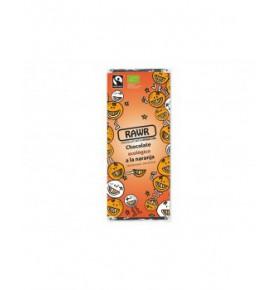 Chocolate ecológico crudivegano a la naranja, Rawr (60g)  de RAWR
