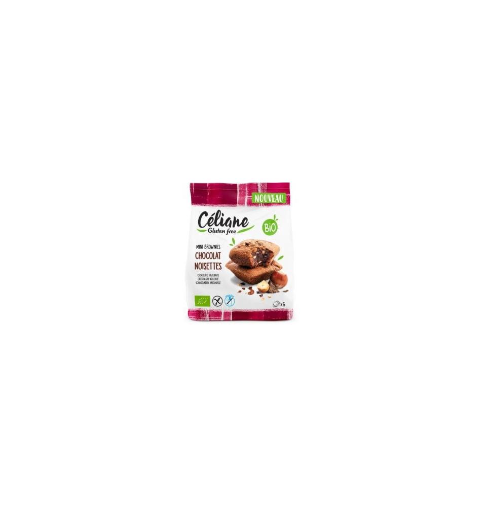 Brownies de chocolate y avellanas sin gluten Bio, Celiane (170g)  de Céliane - Gluten Free
