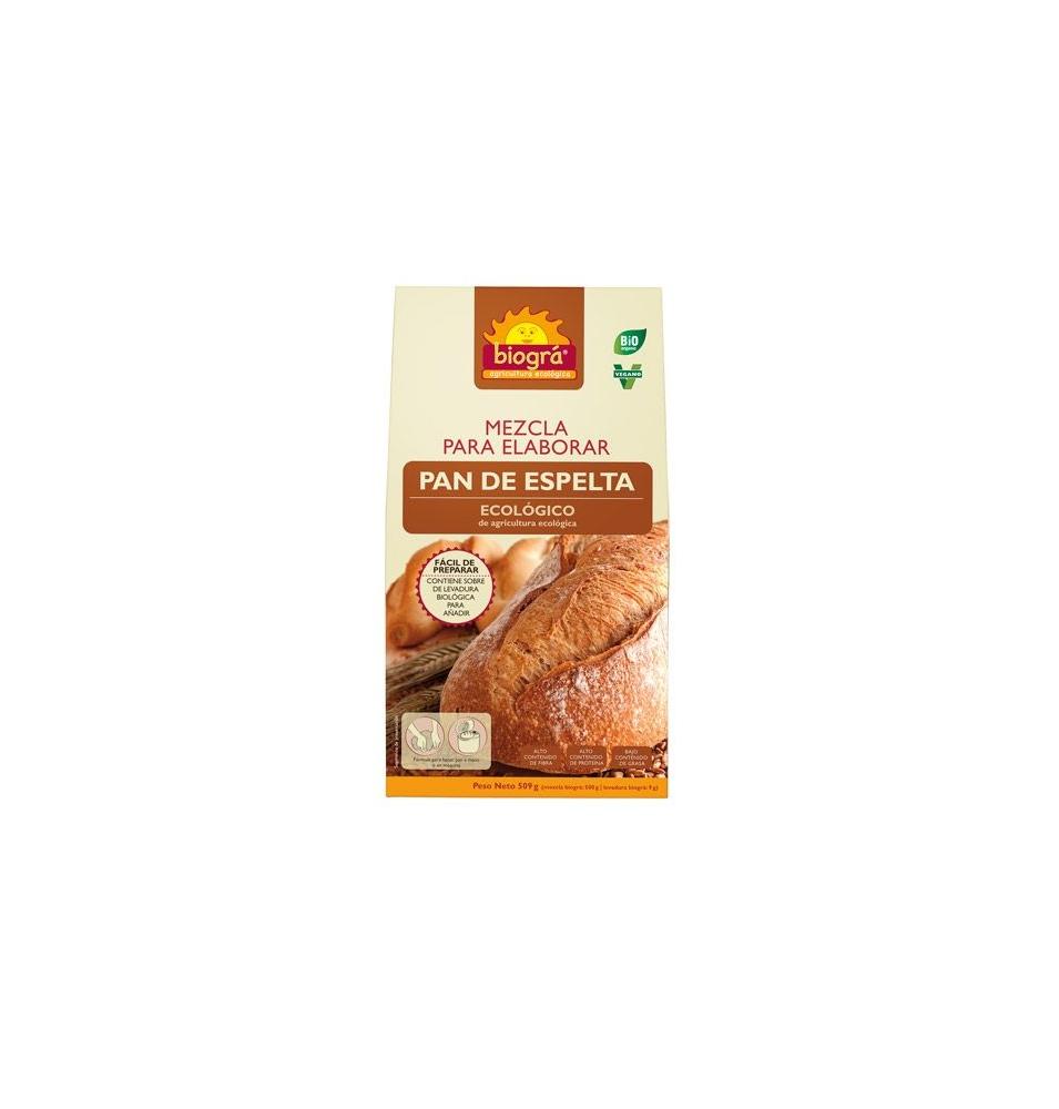 Mezcla para pan de espelta Bio, Biogra (510g)  de Biográ