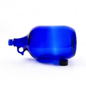 Botella de vidrio azul de Murano, (2-5 litros)  de