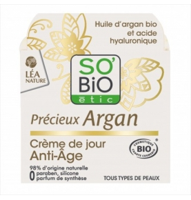 Crema día antiedad argan bio, So'bio étic (50ml)