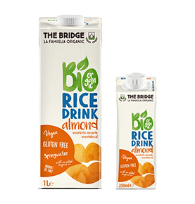 Bebida de arroz con almendra Bio, The Bridge  de THE BRIDGE
