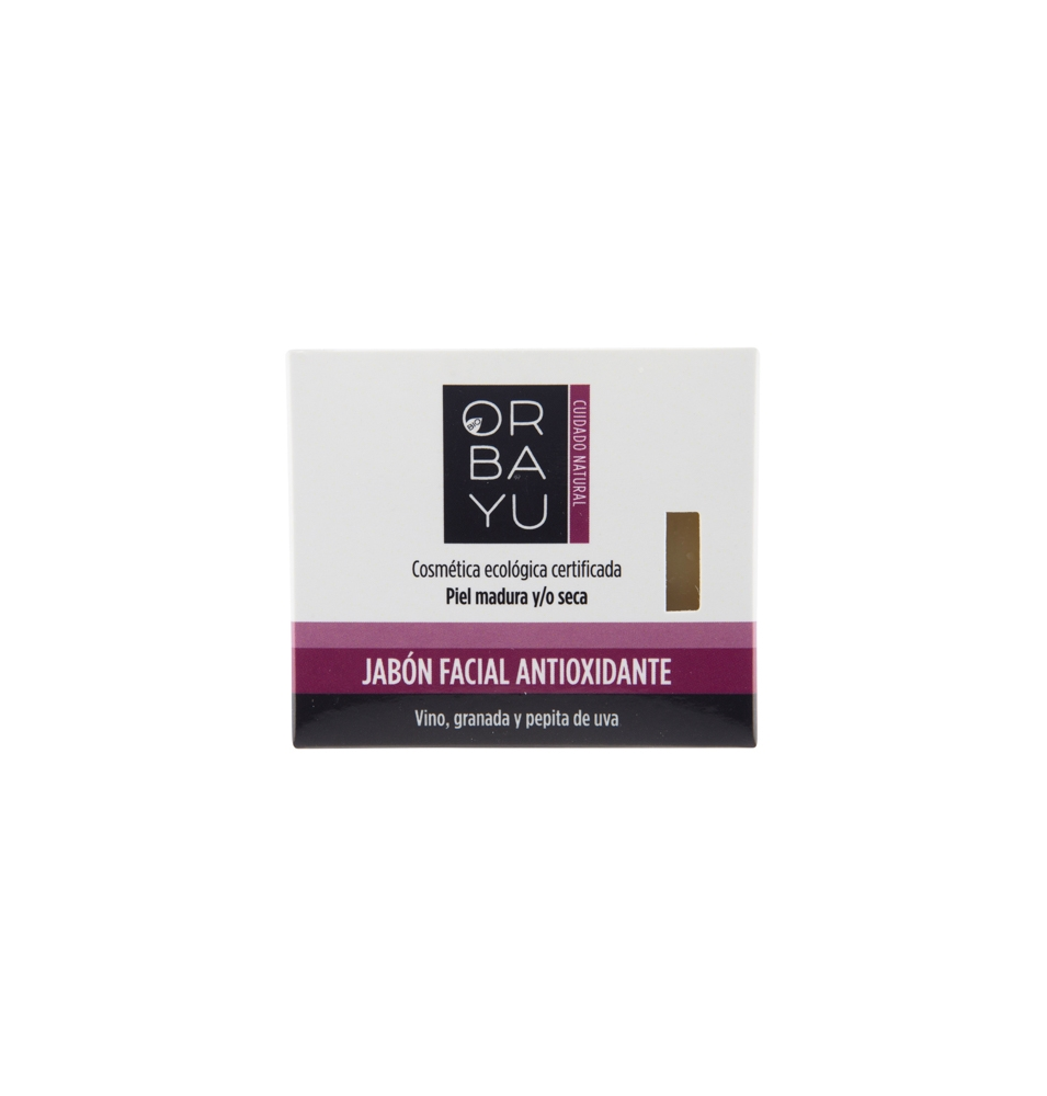 Jabón facial antioxidante, Orbayu (80g)  de Orbayu Natural S. Coop. Mad.