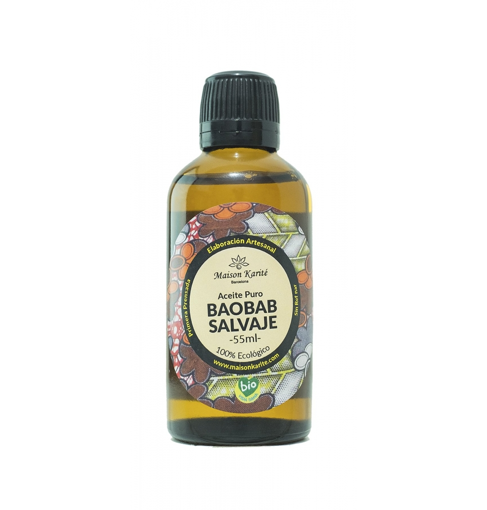 Aceite Puro de Baobab Salvaje Bio, Maison Karité (55ml)SanoBio
