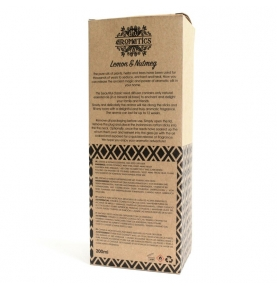 Ambientador Mikado de aceites esenciales limón y nuez moscada, Ancient Wisdom (200ml)  de ANCIENT WISDOM