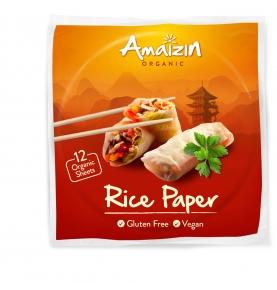 Papel de arroz para rollitos bio, Amaizin (12 tortitas)