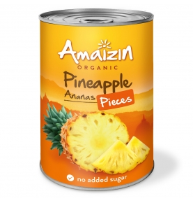 Piña en su jugo troceada Bio, Amaizin (400g)  de Amaizin