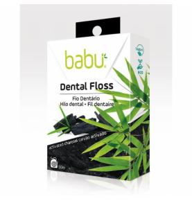 Hilo dental con carbón activado, Babu (50 metros)  de Babu
