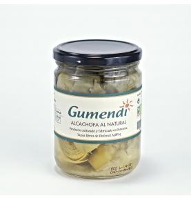Alcachofa entera al natural en conserva bio, Gumendi (400g)