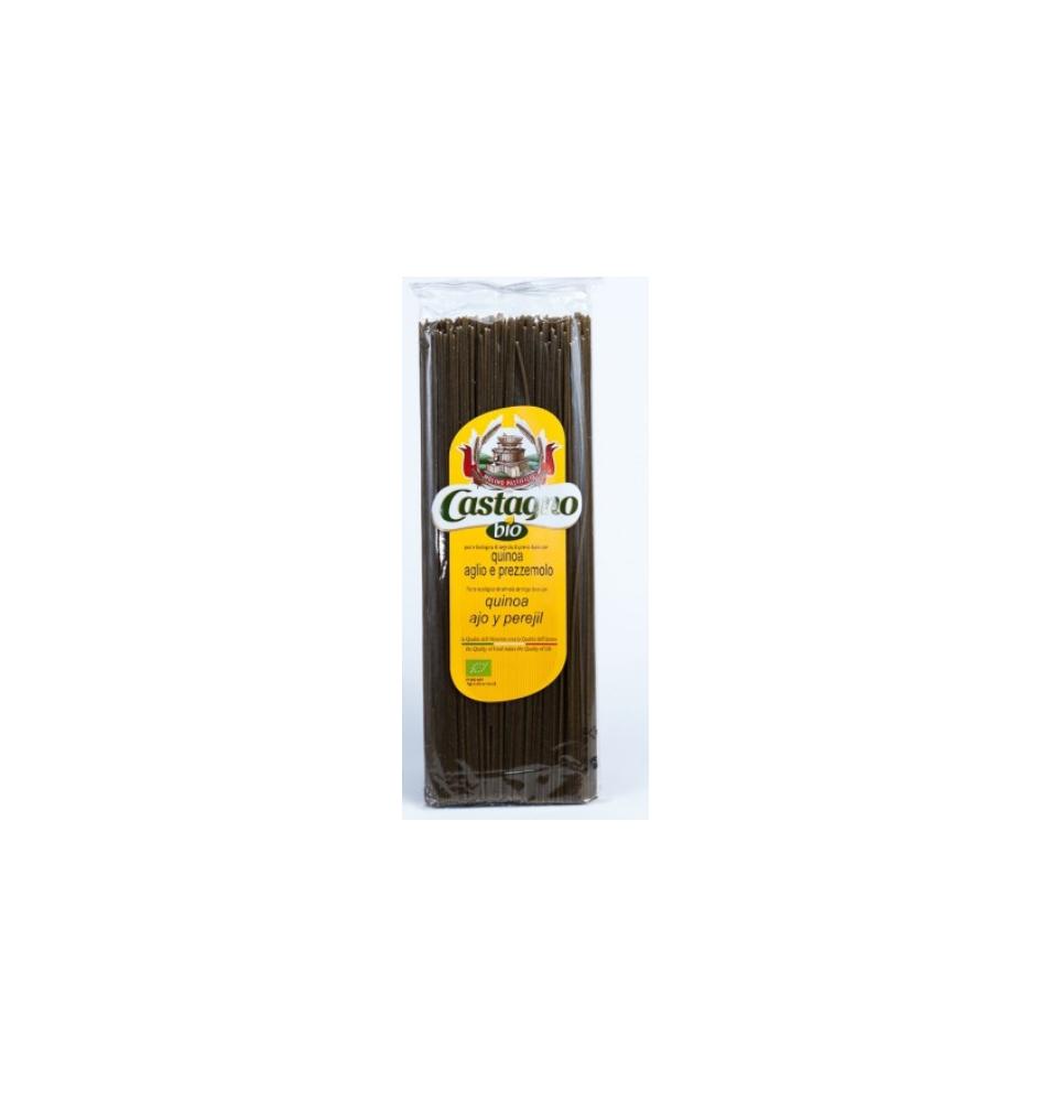 Capellini de quinoa, ajo y perejil bio, Castagno (500g)  de Castagno Bruno