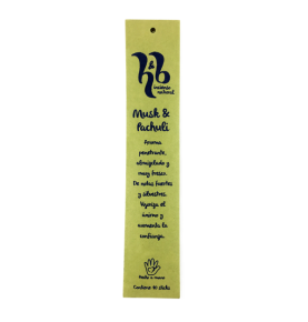 Incienso natural de Musk & Pachuli, H&B Incense (20g)  de H&B Incense