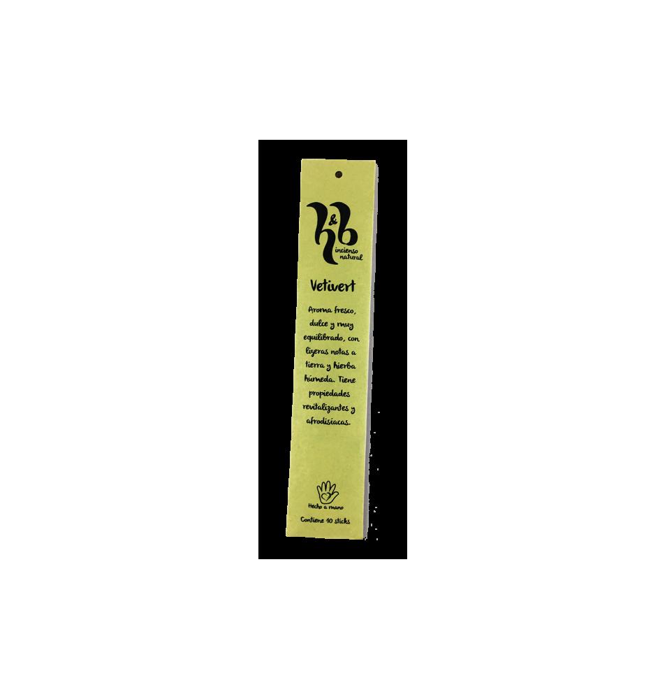 Incienso natural de Vetivert, H&B Incense (20g)  de H&B Incense