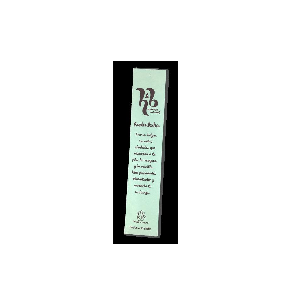 Incienso natural Rudraksha, H&B Incense (20g)  de H&B Incense