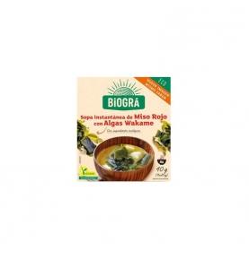 Sopa de Miso Rojo con algas wakame Bio, Biográ (40g)