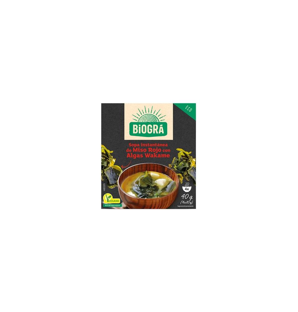 Sopa de Miso Rojo con algas wakame Bio, Biográ (40g)  de Biográ