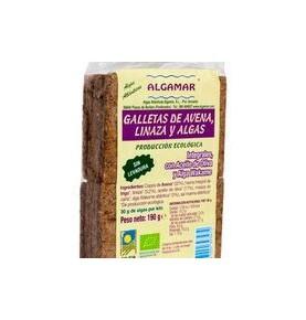 Galletas de avena,linaza y algas Bio, Algamar (160g)  de Algamar