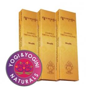 Incienso Tibetano Zambala Wealth, Yogi & Yogini (20g)  de Yogi & Yogini