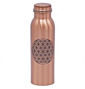 Botella de Cobre Flor de la Vida, Yogi & Yogini (750ml)  de Yogi & Yogini