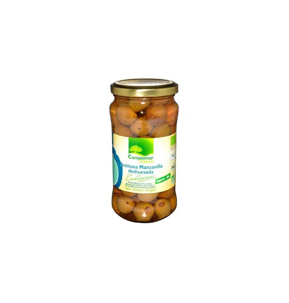 Aceituna Manzanilla deshuesada Ecológica, Campomar (350 g)  de