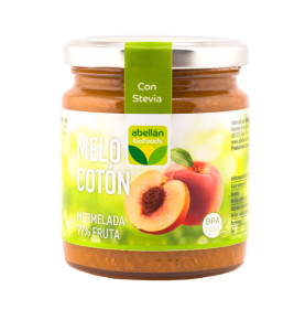 Mermelada de Melocotón con Stevia bio, Abellán Biofoods (235g)  de Abellán Biofoods