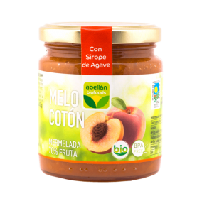 Mermelada de Melocotón con Sirope de agave bio, Abellán Biofoods (265g)  de Abellán Biofoods