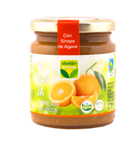 Mermelada de Naranja con infusión de Canela con Sirope de agave bio, Abellán Biofoods (265g)  de Abellán Biofoods
