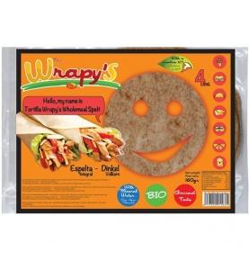 Tortilla de espelta integral multisemilla bio, Wrapy´s (160g)  de Nutri Aliments